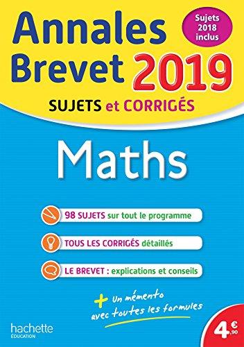 Annales Brevet 2019 Maths