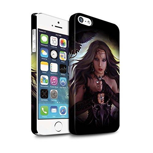 Officiel Elena Dudina Coque / Clipser Matte Etui pour Apple iPhone 5/5S / Pack 9pcs Design / Super Héroïne Collection Coeur Noir