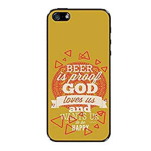 Vibhar printed case back cover for Apple iPhone 5 ToBeHappy