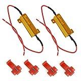 Safego 2x 50W 6ohm Resistenze di Carico Per il LED Bulbi, Indicatore Lampeggiante di Errore Del Segnale