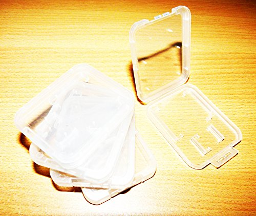 Preisvergleich Produktbild 5 Stück Schutzhülle für SD + Micro SD Speicherkarte Hülle