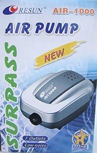 Resun Surpass Air-1000 High Quality Aquarium Fish Tank Air Pump by Resun