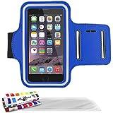 """ORIGINALE, feste und ültradünne Schutzschale Blau Le """"Pearls"""" von MUZZANO für APPLE IPHONE 6 + 3 Displayschutzfolien UltraClear"""
