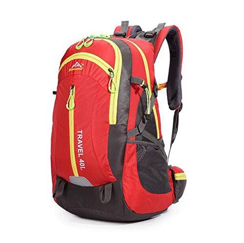 Wmshpeds 40L Sport Borsa da viaggio Fashion grande capacità alpinismo outdoor casual borsa tracolla zaino dello studente F