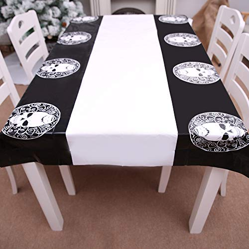 Hukangyu1231 Tischdecke Halloween Perfekt für Dinner-Partys und Scary Movie Nights Halloween-Dekoration