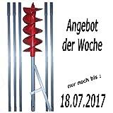 """6m Erdbohrer mit 200mm Bohrkopf ----""""VERLÄNGERBAR""""---- Anwendung als Brunnenbohrer"""