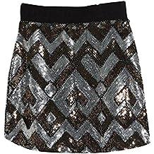 NiSeng Mujer Slim Fit Bodaycon Lentejuela Faldas Elástica Cintura Faldas Mini Faldas