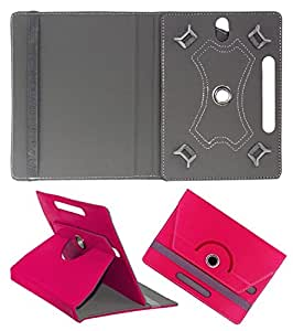 Gadget Decor (TM) PU LEATHER Rotating 360° Flip Case Cover With Stand For Wespro MC715 - Dark Pink