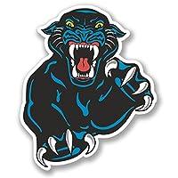 2 x Black Panther Sticker Car Bike iPad Laptop Kindle Cat Lion Tiger Wild #4130 (8.3cm Wide x 10cm Tall)