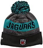 New Era Men's NFL Sideline Bobble Knit Jacksonville Jaguars Beanie