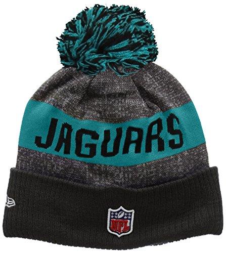 New Era Nfl Sideline Bobble Knit Jacksonville Jaguars, Cuffia Uomo, Multicolore (Team), Taglia Unica (Taglia Produttore: One Size)