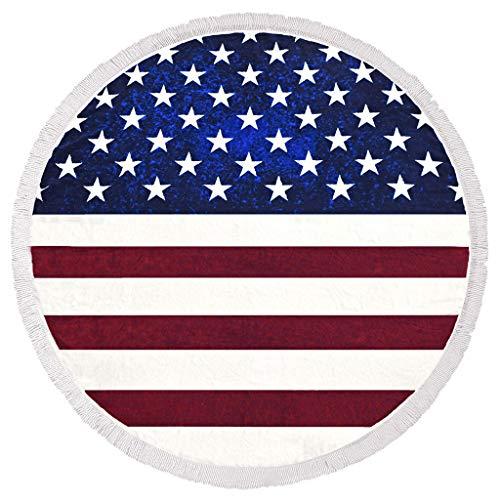 YA-Uzeun Strandhandtücher mit Kapuze, Motiv Amerika Flagge, 150 x 150 cm Polyester-jungen-clip
