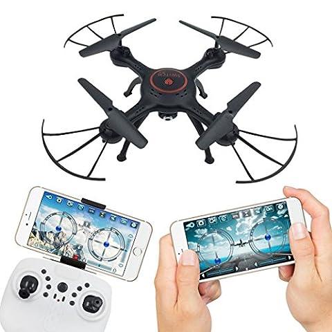 SOMESUN X5UW 4CH 6 axes FPV RC Caméra Quadcopter Wifi Vidéo en temps réel 2 Modes de contrôle Modèle d'avion Hélicoptère (Noir)