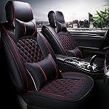 QLL 5-Sitz-Universal Autositzbezug, Atmungsaktiv Rutschfest, Yili Tuch Stoff Exquisite Handwerkskunst, 4 Farben zur Auswahl,Black