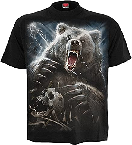Spiral - Men - BEAR CLAWS - T-Shirt Black -
