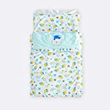 BABIGODS Babyjungen Mädchen Schlafsack Swaddle Schlafender, Neugeborener Baumwollschlafsack Swaddle, Baby Winter-Schlafsac Swaddle, Baby Sleeping Bag Wrap,Blue