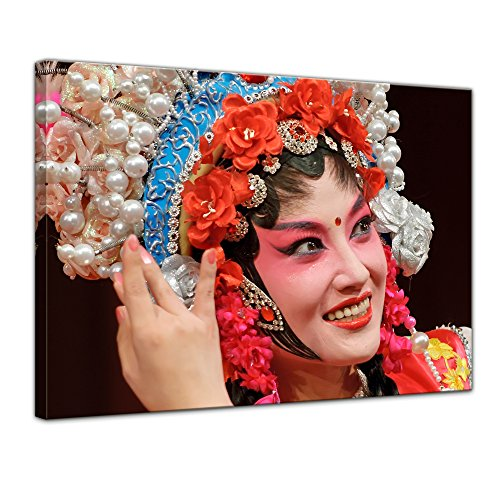 Wandbild traditionelles chinesisches Kostüm - 70x50 cm Bilder als Leinwanddruck Fotoleinwand Kunst & Life Style - China - traditionelles Gewand