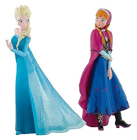 Bullyland - B13063 - Coffret 2 figurines Anna Et Elsa - La Reine Des Neiges Disney