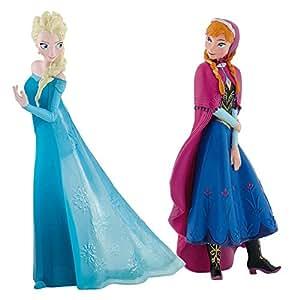 Bullyland 13063 - Spielfigurenset, Walt Disney Frozen Mini, Anna und ELSA