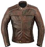 Vagos Motorbike Leather Jacket Motorcycle Touring Coat L Brown