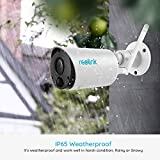 Reolink Argus Eco with Solar Panel Rechargeable Battery Solar Powered Outdoor Wireless Security Camera 1080P FHD PIR Motion Detection 2-Way Audio Micro SD Card Slot Bullet WiFi CCTV IP Camera