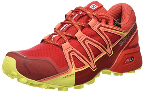 Salomon Speedcross Vario 2 GTX, Scarpe da Trail Running Donna, Barbados Cherry/Poppy Red/Sulphur Spring, Misura: 41 1/3