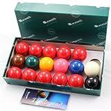 Aramith 47.6mm Premier Snooker Balls - 10 Red - 17 Bälle ...