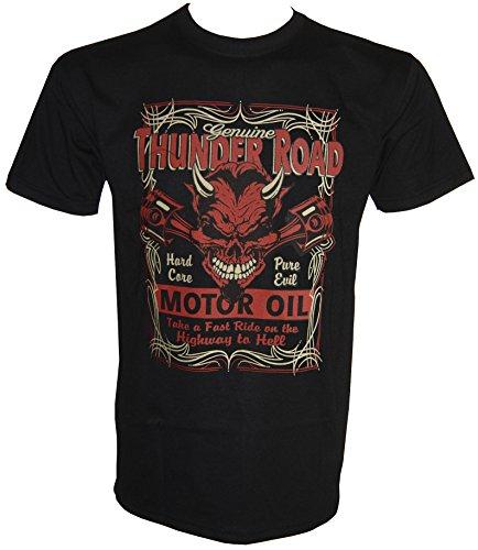 Thunder Road Hard Core T-Shirt in Größe S-5XL Schwarz