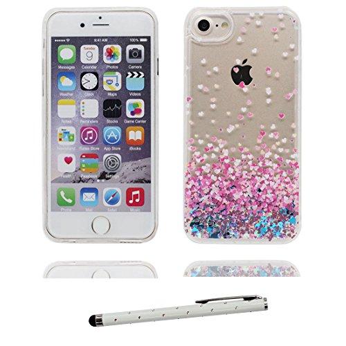 """iPhone 6 Plus Coque, iPhone 6s Plus étui Cover 5.5"""", Bling Bling Glitter (talon hauts) Fluide Liquide Sparkles Sables, iPhone 6 Plus Case 5.5"""", Shell anti- chocs & stylet # 9"""