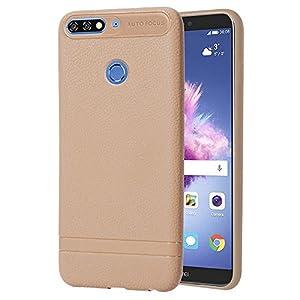 FNBK Huawei 7C Hülle, Soft Silikon Hülle Ultra Dünn [Kratzfest] Bumper Case TPU Handyhülle Schutzhülle Handy Hülle Tasche Kompatibel mit Huawei 7C,Beige