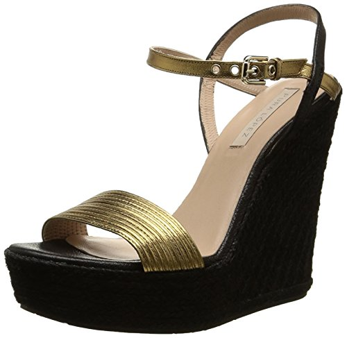Pura Lopez Ah335, Sandales Femme Or (Napa Metal Oro)