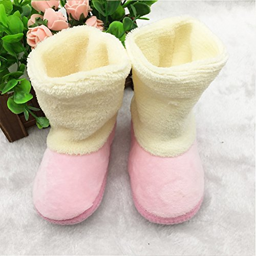 Zhuhaitf Ausgezeichnet Toddler Soft Boots Keep Warm Crib Shoes Baby Girl Soft Sole Snow Boots Pink