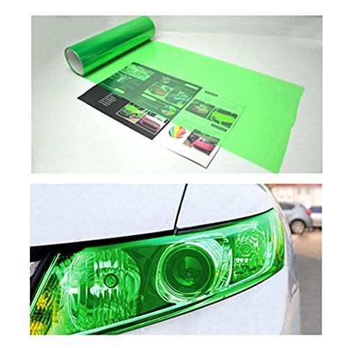 Car Auto Headlight Chameleon Tint Film Sticker Vinyl Wrap Taillight Fog Light (Green) (Tönung Auto 60)