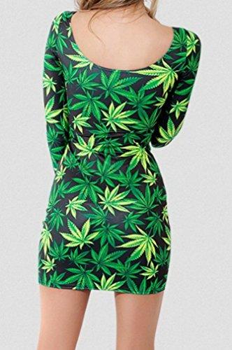 JTC Studentin Mädchen Langärmeliges Kleid Bodycon Sommerkleid Minikleid Modell 1
