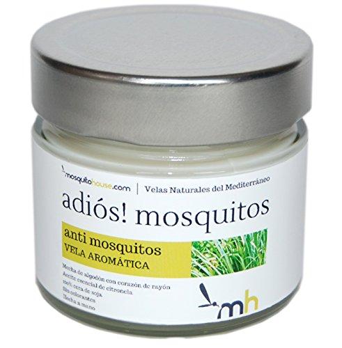 Foto de Bye! Mosquitos - Vela aromática antimosquitos. 100% cera vegetal. Mecha de algodón, libre de plomo y zinc. (Bye! Mosquitos)