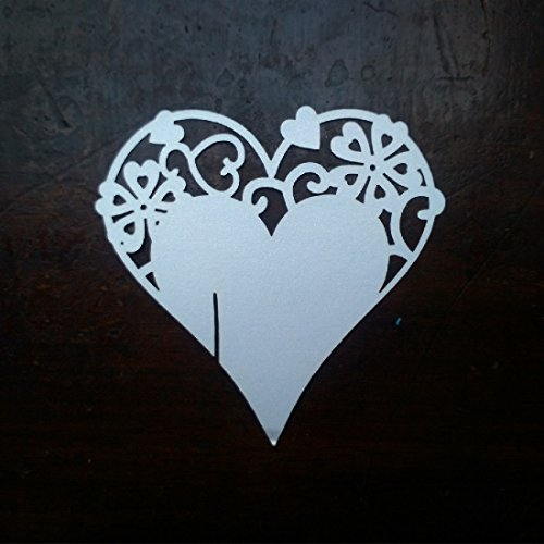Heart Sunglass - Free Shipping 10pcs Set Ice White Heart Shaped Glass Place Cards Wedding Party Table Decoration - Cup Coffee Paper Template Multilayer Holder Plastic Decorations Sunglass C