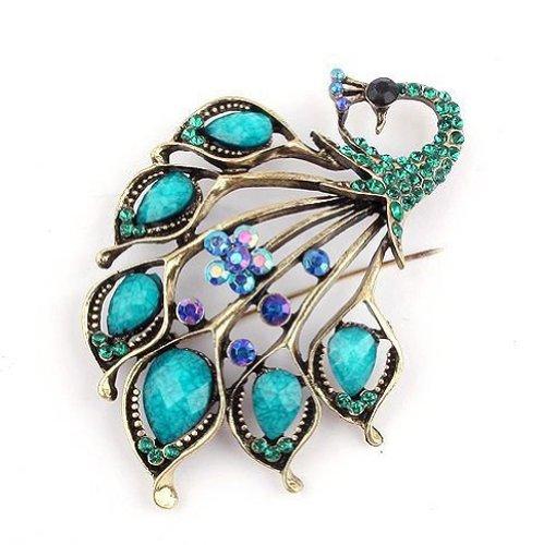 klaritta-vintage-style-amazing-turquoise-and-blue-rhinestones-peacock-brooch-pin-br66