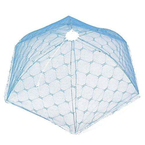Nylon Küchennetz Regenschirm formte faltbares Tabelle Food Net Abdeckung Blau -