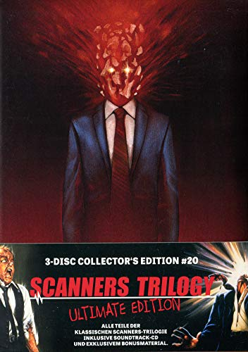 Scanners Trilogy -  Mediabook - 3-Disc Limited Collector's Edition Nr. 20 (2 Blu-rays + CD-Soundtrack, Limitiert auf 1222 Stück)