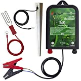 Xstop X-Stop BA80 12v Battery Powered Electric Fence Energiser Plus Leads and Earth