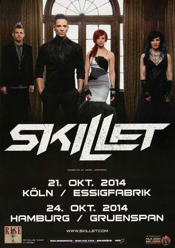 Premium Poster/Plakat   DIN A1   Live Konzert Veranstaltung » Skillet - Vital Signs, Köln & Hamburg 2014 «