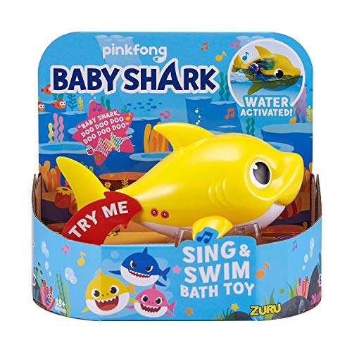 ZURU ROBO ALIVE JUNIOR Baby Shark Battery-Powered Sing and Swim Bath Toy, Random color