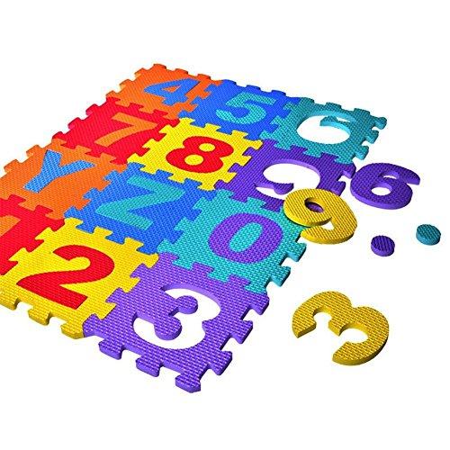 Vektenxi Schaum-Spielmatte, Schaum-Bodenfliesen stärker und weicher Puzzlematte 36pcs Qualität