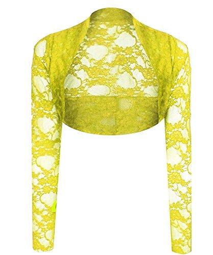Generic - Boléro - Femme Multicolore Bigarré Taille Unique Citron