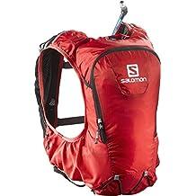 Salomon Skin Pro 10 Set Mochila, Hombre, Rojo (Bright Red/Black)