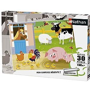 Nathan-Puzzle mis Amigos de la Granja 30Piezas, 86365