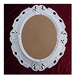 Lnxp BILDERRAHMEN Antik Barock in der Farbe: Weiß 45x38 cm Oval REPRO Bilder für 28x22 cm Oder 22x28 cm BAROCKRAHMEN Bilder DEKO