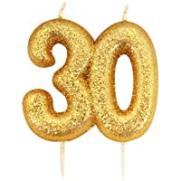 Gold Number Candle - 30