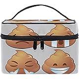 Kosmetiktasche, lustige Poop Emoji tragbare Reisetasche Großdruck Kosmetiktasche Organizer Fächer...