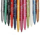 Glitter Eyeliner Pencil Lidstrich Augen Liner Eye Kosmetik Drehen Makeup Set bunte 12 Frauen Lidschatten Langlebig Make-up kosmetische Werkzeuge von Demarkt